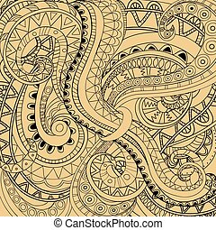 modern abstract background - Hand drawn doodle abstract...