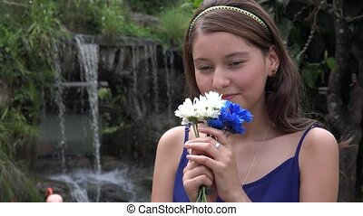 Happy Teen Girl During Spring