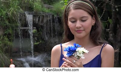 Teen Girl With Flowers