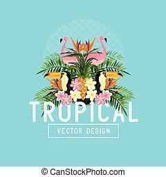 Tropical Summer Vector