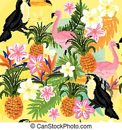 Tropical Seemless Pattern