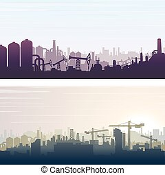 Industrial and Construction Banner Background
