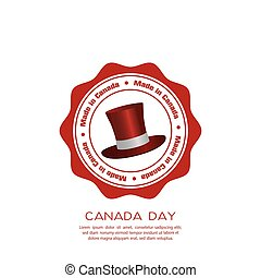 Canada day - Isolated banner with text and a hat for canada...