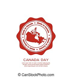 Canada day - Isolated banner with text and the canadian map...