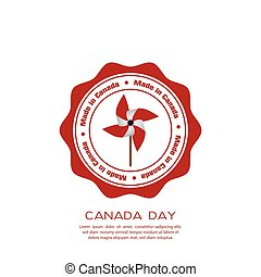 Canada day - Isolated banner with text and a wind toy for...