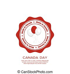 Canada day - Isolated banner with text and balloons for...