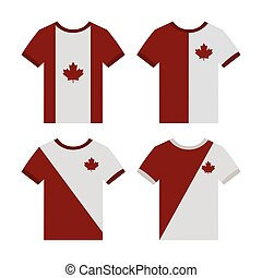 Canada day - Set of shirts on a white background for canada...