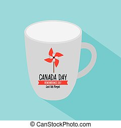 Canada day - Isolated mug with text and a wind toy for...