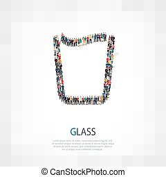 glass people vector