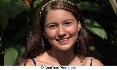 Smiling Pretty Caucasian Teen Female