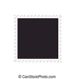Vector blank photo frame