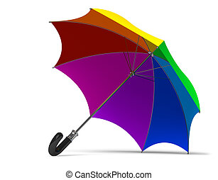 Rainbow umbrella  - Rainbow umbrella