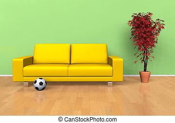 Modern living room interior  - Modern living room interior