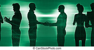 Business Networking Session as an Illustration Concept