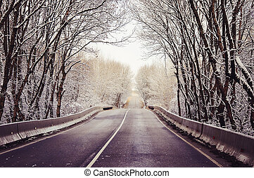 Country road inRussia - Country road in Russia in winter day
