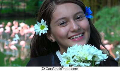 Smiling Pretty Teen Girl