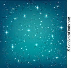 Night sky background with glittering stars. Vector design template