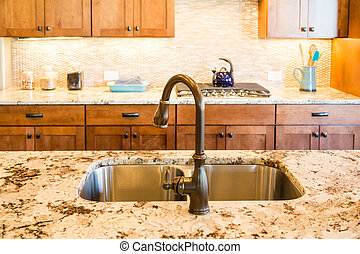 Rubbed Bronze Kitchen Fixtures - Well decorated and modern...
