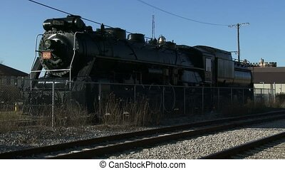 Old locomotive at Guelph station - Old locomotive at Guelph...