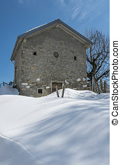 Alpine farmhouse - an old farmhouse in the italian alps