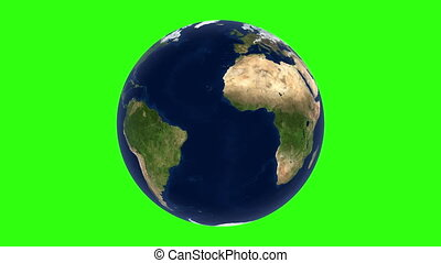 looping globe   - clear globe PNG green screen