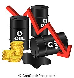 Illustration Graphic Vector Price of Oil