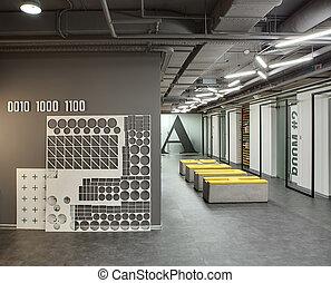 Interior, estilo, sótão