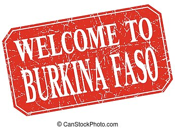 welcome to Burkina Faso red square grunge stamp