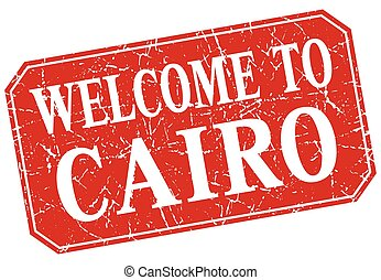 welcome to Cairo red square grunge stamp