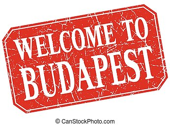 welcome to Budapest red square grunge stamp