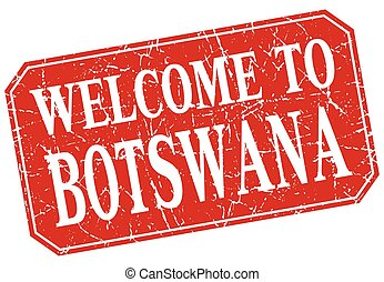 welcome to Botswana red square grunge stamp
