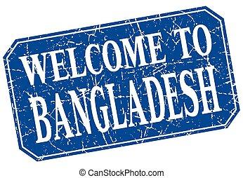pożądany, do, Bangladesz, Błękitny, skwer, Grunge,...