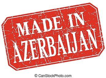 made in Azerbaijan red square grunge stamp