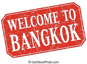 welcome to Bangkok red square grunge stamp