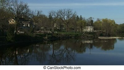 Grand River near Elora, Canada - View of the Grand River in...