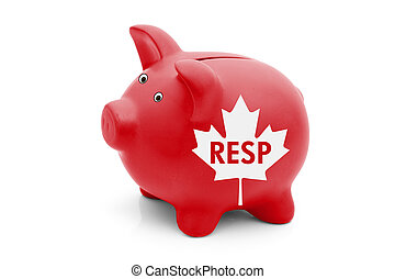 Registered Education Savings Plan in Canada, A red piggy...