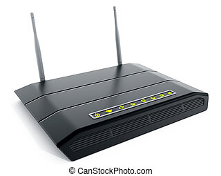 Black wireless modem