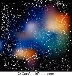 Multicolored space background with Milky Way Eps 10...