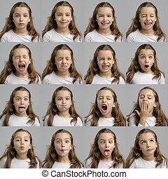 My several diferent moods - Multiple portraits of the same...