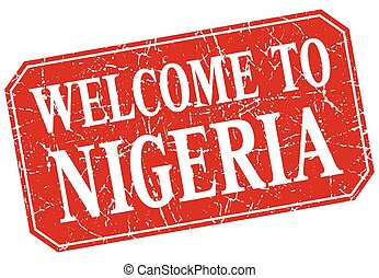 welcome to Nigeria red square grunge stamp