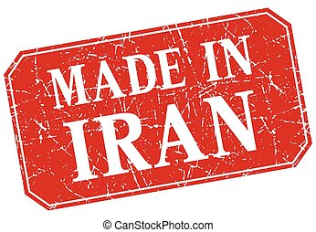 made in Iran red square grunge stamp
