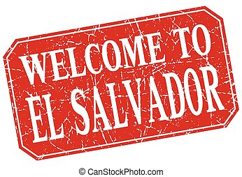 welcome to El Salvador red square grunge stamp