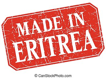 made in Eritrea red square grunge stamp