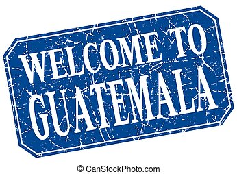 welcome to Guatemala blue square grunge stamp