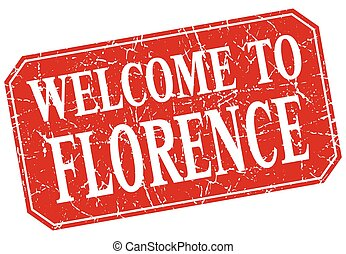welcome to Florence red square grunge stamp