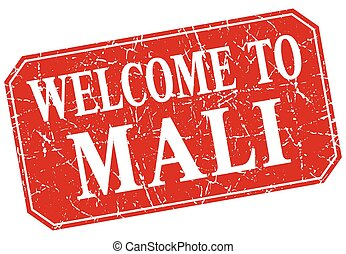 welcome to Mali red square grunge stamp