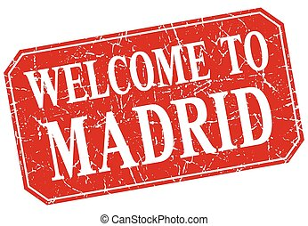 welcome to Madrid red square grunge stamp
