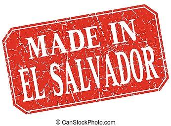 made in El Salvador red square grunge stamp