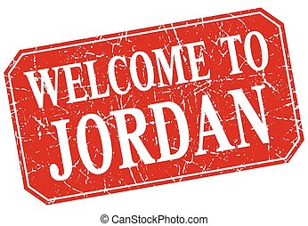 welcome to Jordan red square grunge stamp