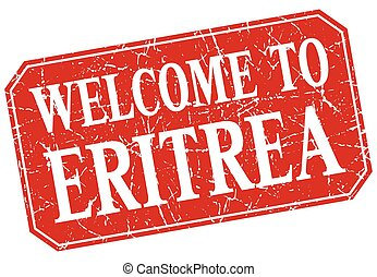 welcome to Eritrea red square grunge stamp